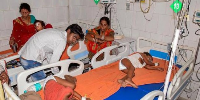 दिमागी बुखार से 73 बच्चों की मौत, मिनिस्टर नित्यानंद राय पहुंचे मुजफ्फरपुर