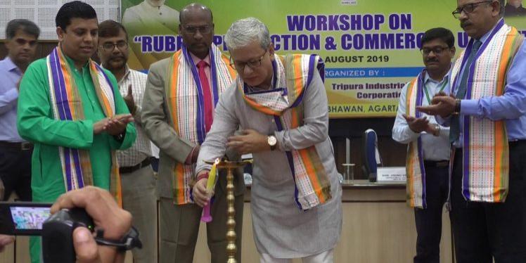 Tripura hosts workshop for better return of rubber growers