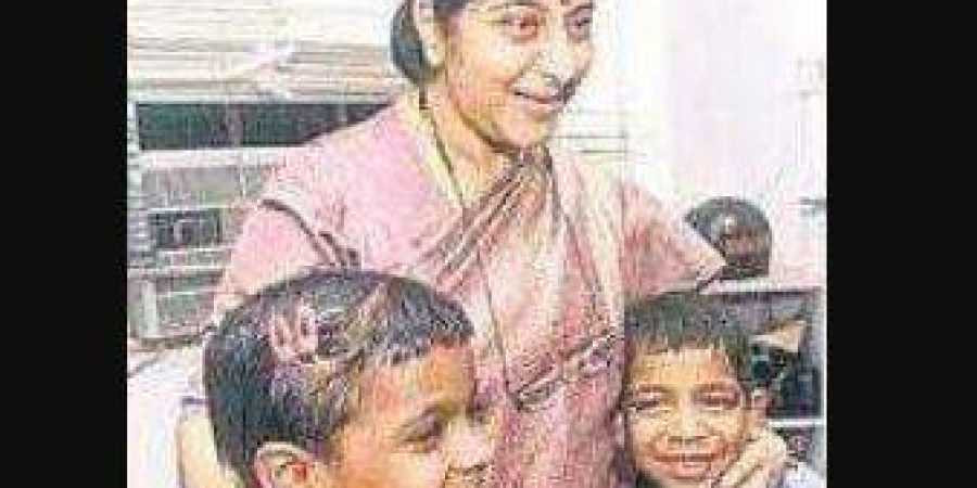 Sushma's hug and kiss gave a lease of life to HIV+ children of Kollam