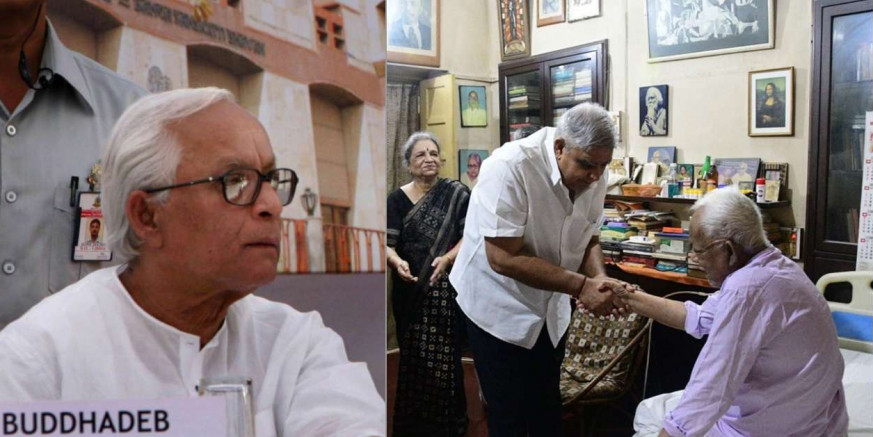 Former West Bengal CM Buddhadeb Bhattacharjee looks unrecognisable in this viral pic