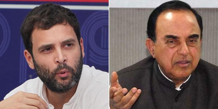 सुब्रमण्यम स्वामी के खिलाफ FIR कराने पहुंचे शिव डहरिया, राहुल गांधी को नशेड़ी कहने का मामला