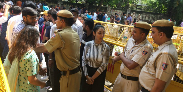 Voting for DUSU Election Underway, Police detains NSUI Candidate