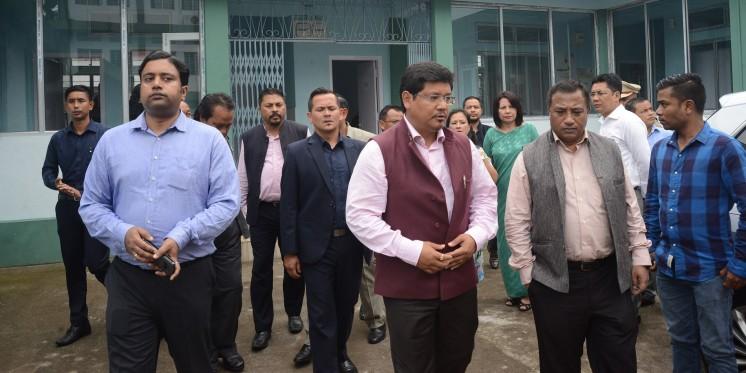 Meghalaya CM inspects Nongpoh Civil Hospital