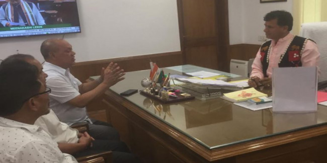 Nagaland minister calls on Choudhary