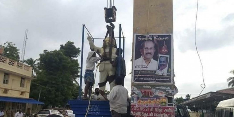 28 arrested after Ambedkar statue vandalised in Tamil Nadu's Vedaranyam town
