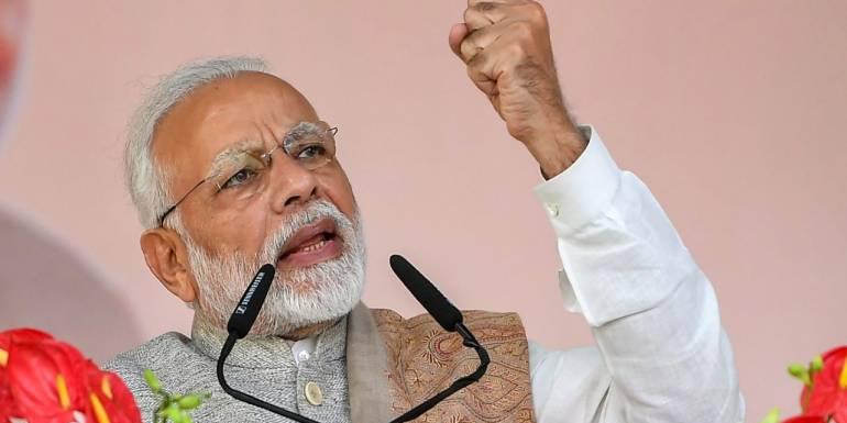 भाजपा अधिवेशन: पीएम मोदी बोले, चाहे जितनी गलियां दो, ये चौकीदार रुकने वाला नहीं है