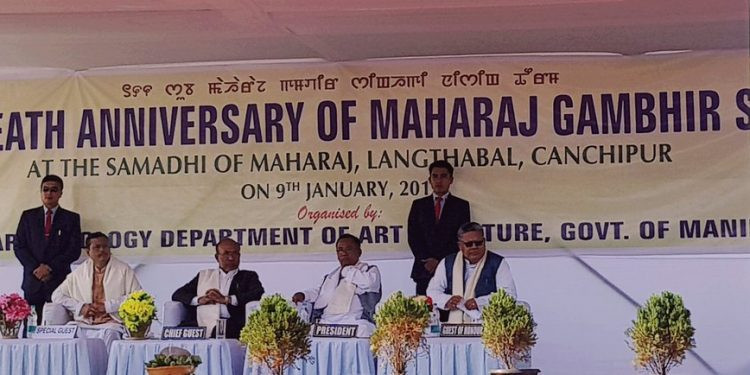 Manipur pays glowing tributes to Maharaj Gambhir Singh on an anniversary