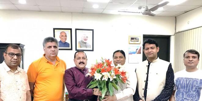 BJP leaders from J&K call on Dr Jitendra