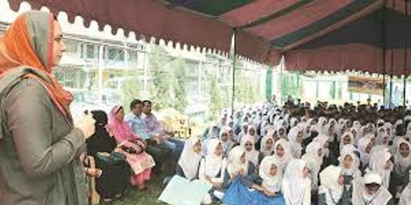 Only Kashmir woman DC helps girls over period bar, into class