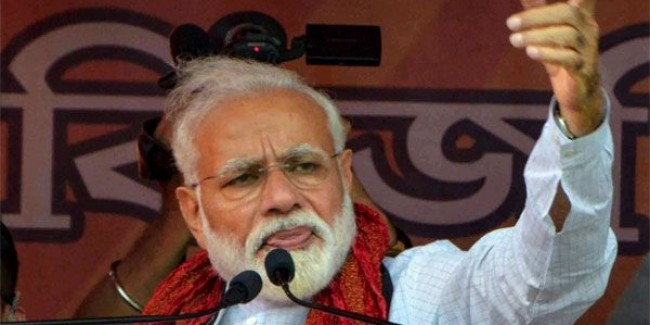 PM hits out at Rahul's 'all Modis are chor' remark