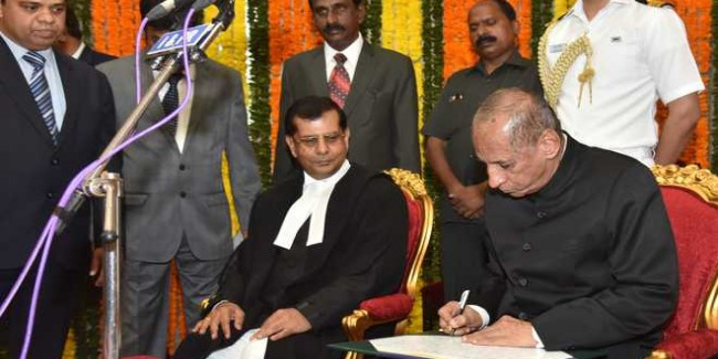 Chauhan takes oath as Chief Justice of Telangana High Court