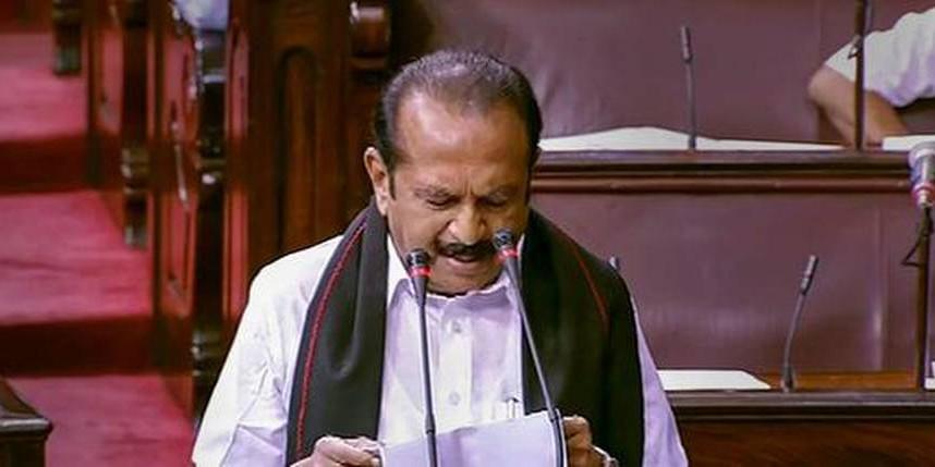 Vaiko, four others take oath as Rajya Sabha members