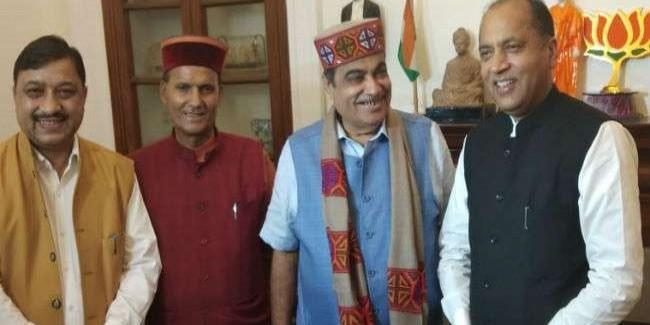 जयराम ठाकुर ने रोपवे प्रोजेक्ट के लिए नितिन गडकरी से मांगी 500 करोड़ की ग्रांट