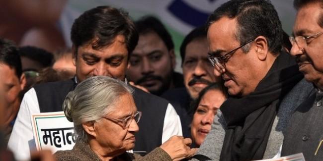 नहीं हुआ गठबंधन, कांग्रेस ने घोषित किए दिल्ली के 6 कैंडिडेट, शीला-माकन मैदान में