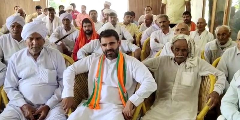 भाजपा विधायक के खिलाफ बागी हुए ब्लॉक समिति चेयरमैन संघ के प्रधान युद्धवीर भारद्वाज