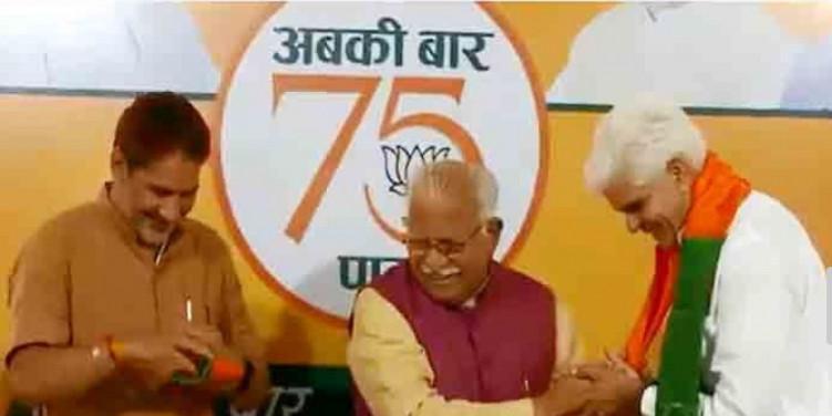इनेलो छोड़कर रामपाल माजरा ने भाजपा का दामन थामा, सीएम और प्रदेशाध्यक्ष ने शामिल करवाया