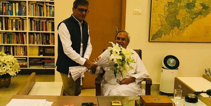 STPI Director General Meets Odisha CM