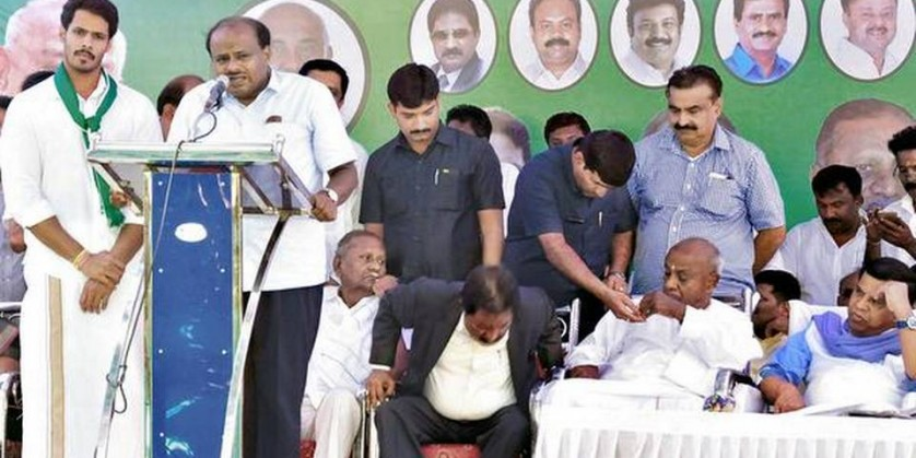 Deve Gowda names another grandson for Mandya seat