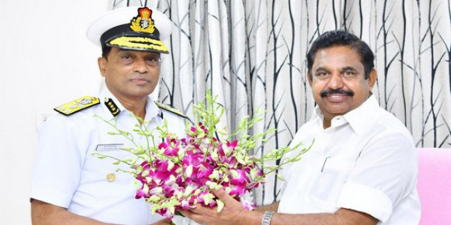 Coast Guard chief apprises Palaniswami of initiatives in maritime domain