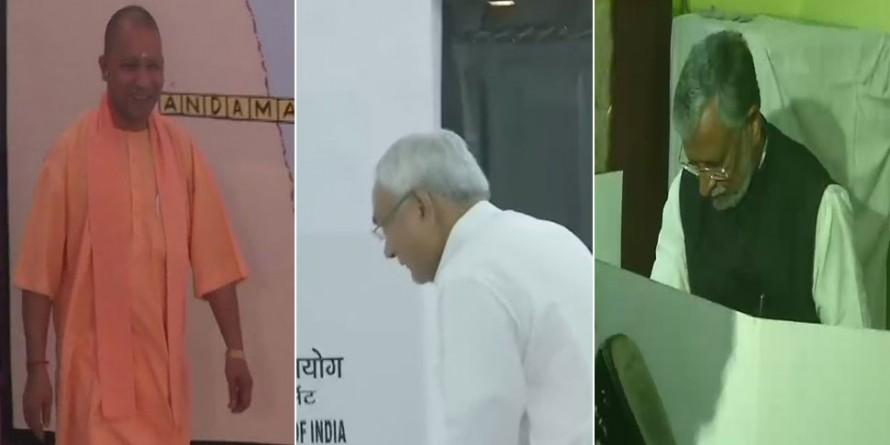 लोकसभा चुनाव : आखिरी चरण का मतदान जारी, CM योगी, नीतीश कुमार और सुशील मोदी ने डाला वोट