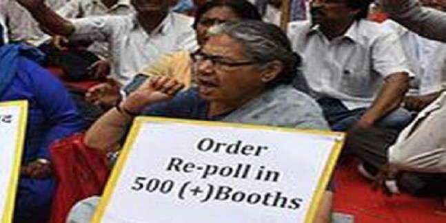 Massive security for Tripura re-poll