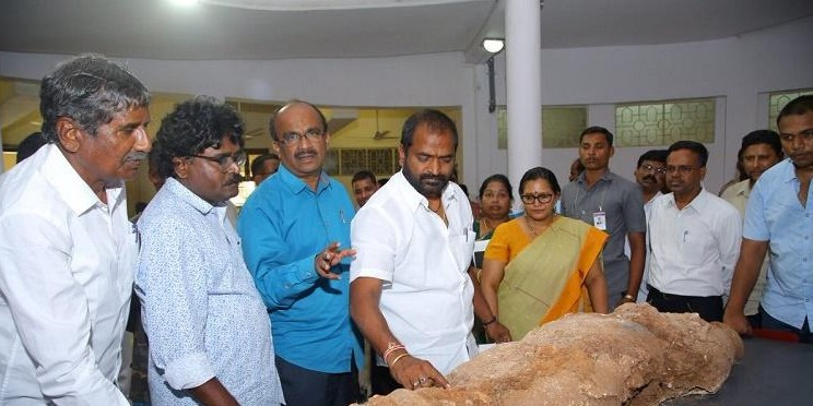 Rare stucco Buddhist sculpture excavated in Telangana
