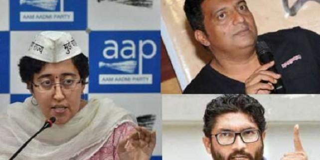 Mevani, Prakash Raj set to campaign for Atishi